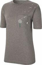 Nike Women Fitness Training short Sleeve T-Shirt W T-Shirt Novel Grey