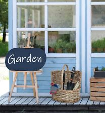 More details for wicker garden basket with hand tools garden tools with wicker basket carrier