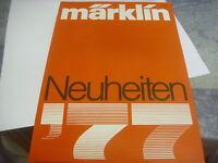 MÄRKLIN H0 HO NEUHEITENPROSPEKT 1977  TOP!!  OW37/04