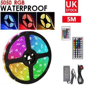 RGB LED STRIP LIGHTS COLOUR CHANGING SMD 5050 UNDER CABINET KITCHEN LIGHTING UK
