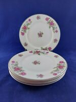 "NASCO PATROON FINE CHINA ROSE ANN 4 BREAD & BUTTER PLATES 6 3/8""  MADE IN JAPAN."