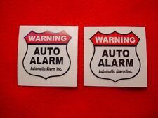 TWO AUTO CAR TRUCK ALARM SECURITY WARNING DECAL STICKERS for WINDOWS or DOORS