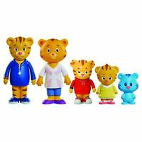 5 Pack Daniel Tiger's Neighborhood Friends Family Figure Poseable Arms Kids Toys