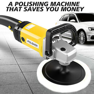 7Inch 1600W ELECTRIC 6 VARIABLE SPEED CAR POLISHER BUFFER WAXER SANDER