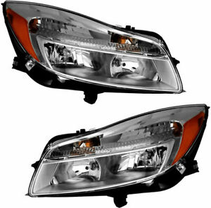 FIT FOR 2011 2012 2013 2014 BUICK REGAL HEADLIGHTS (HALOGEN) RIGHT & LEFT PAIR