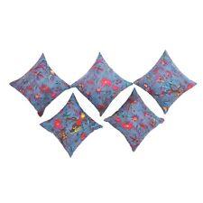 Flower Bird Print  Kantha Work Cushion Cover Throw Sofa Bed Pillowcase