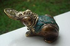 Feng Shui Bronze Frosch Kröte mit Glücksmünze im Mund Glücksbringer Reichtum
