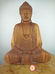 Buddha aus Teakholz B-Ware, ca. 55cm