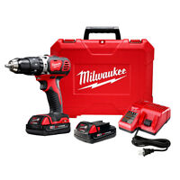 Milwaukee 2606-22CT M18 18-Volt Compact 1/2-Inch Drill Driver w/ Batteries