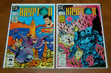Superman Collectible Comic Books World of Krypton #1 & #2 VF+ 1987