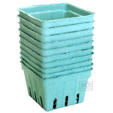 10 pc Teal Berry Basket, Strawberry Baskets, 1 pint size light blue
