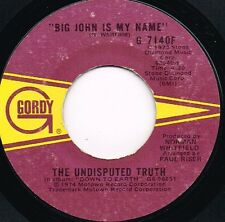 """UNDISPUTED TRUTH big john is my name/lil red riding hood US GORDY 7""""_1974 funk"""