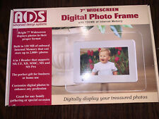 "New ADS Advanced Design Systems 7"" Widescreen Digital Photo Frame White & Clear"