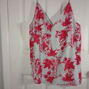 NWT Club Monaco Soft Silk-Blend Floral Cami Chemise Size Large