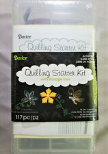 Darice Quilling Starter Kit w/ Storage Box - Needle Slotted Tool Comb Tweezers