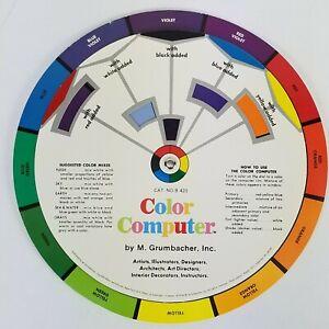 Vintage Grumbacher Color Computer &  Harmony Wheel 1977 3rd Edition