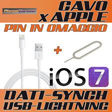 CAVO DATI da USB a 8 PIN per IPHONE 5 SYNC CARICA DOCK per IPAD 4 per IPOD 7 gen