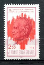 Jugoslavia 1980 SG # 1941 Self Management legge MNH #A 32983