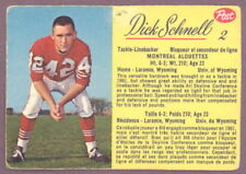 1963 POST CFL FOOTBALL #2 DICK SCHMELL VG-EX MONTREAL ALOUETTES UNIV OF WYOMING