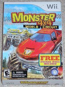 Nintendo Wii MONSTER 4 x 4 World Circuit (New) w/ Wheel