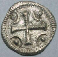 Beautiful, Crusaider cross, Bela II 1131-1141, Medieval, Europe, denar, patina
