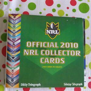 NRL 2010 Card Album Plus 30 Cards