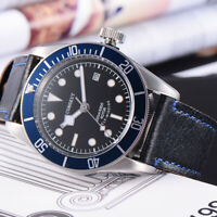 41mm CORGEUT black dial blue bezel Sapphire Glass miyota Automatic mens Watch