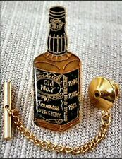 Jack Daniel's Tie Tack Pin and Chain Clasp