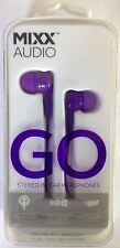 Mixx Go Stereo In Ear Earphones With Bi-Directional Noise Reduction - Purple