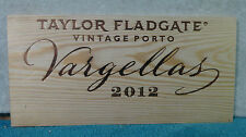 TAYLOR FLADGATE VARGELLAS VINTAGE PORT WOOD WINE PANEL END