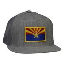 Arizona Trucker Hat -  Heather Gray Snapback with AZ Flag