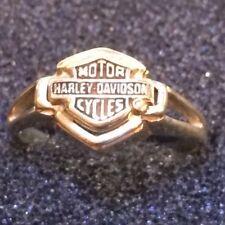 Harley Davidson Motorcycles Solid 10K Gold Ring Ladies Size 8 vintage