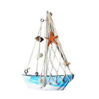 Nautical Style Wooden Sailing Boat Home Living Room Decor Crafts Ornament #1