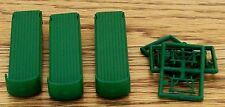 N Scale New Classic Metal Works~(3)Green Flatbed Trailers w/Stands-Use for Scene