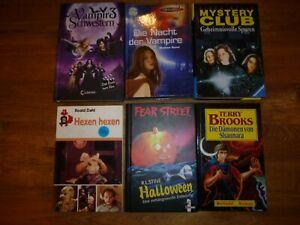 6 Kinder-, Jugendbücher mit Gruselgeschichten