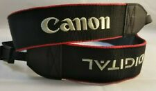 "CANON EOS Digital Neck Strap 1.5"" wide Black/Red Excellent +++ from Japan"