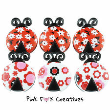 LADYBIRD LOVE DRESS IT UP NOVELTY CRAFT BUTTONS WILD FLOWER ANIMAL WILDLIFE SEW