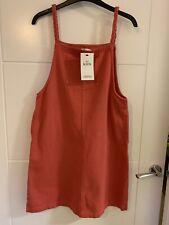 Girls Bnwt M&S Pink Cotton Pinafore Dress 13-14 Years