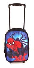 Marvel Comics Ultimate Spider-Man Boy's 3-D Trolley Backpack Book-Bag NWTT