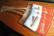 Southwest Airlines Coke Luggage Tags - Coca Cola Boeing 737 SWA Airplane Set (3)
