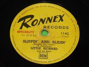 LITTLE RICHARD : Slippin' and slidin' / Long Tall Sally - 1957 Belgium 78rpm 215