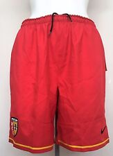 R.C. LENS PLAYER ISSUE RED HOME SHORTS BY NIKE ADULTS SIZE SMALL BRAND NEW