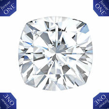 1.30CT FOREVER ONE MOISSANITE CUSHION CUT LOOSE STONE CHARLES & COLVARD 6.5MM