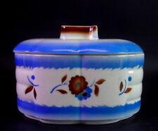Art Deco Keramik Dose mit Spritzdekor - Keksdose