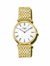 Gold Plated Band Gloss Analogue Round Wristwatches