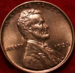 Uncirculated Red 1935 Philadelphia Mint Copper Lincoln Wheat Cent