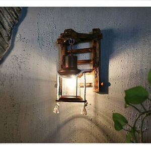 Retro Wall Light Vintage Sconce Lamp Lantern Nostalgia Rustic Fixture Fitting