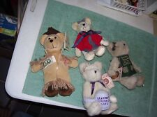 "Lewis and Clark Stamp Bear USPS Plush Bear 10""  and 3 Boyd Bears, Potsley w/tags"