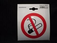 Aufkleber selbstklebend - Rauchen verboten - Hinweisschild - Durchmesser 9,7 cm