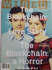Wired July 2018 The Blockchain: a Love Story FREE SHIPPING CB